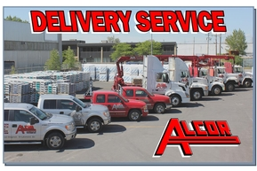 Delivery on job site, at your warehouse and even on the roof !