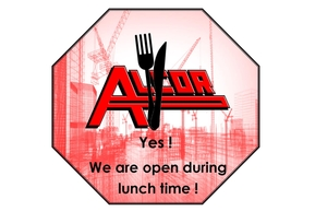 We are open during lunch time !