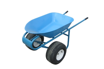 Wheelbarrow with extra-wide wheels