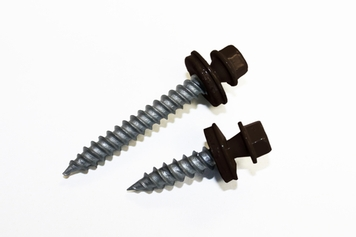 Dark Brown Sheet Metal Screws